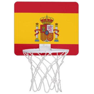 Spanish flag mini basketball hoop
