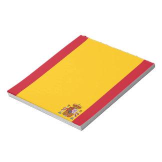 Spanish flag notepad