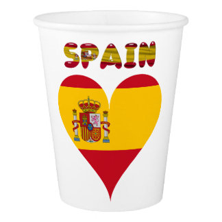 Spanish flag paper cup