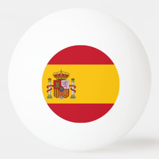 Spanish flag ping pong ball