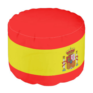 Spanish flag pouf