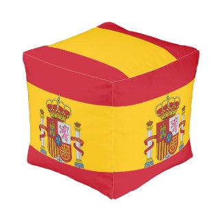 Spanish flag pouf