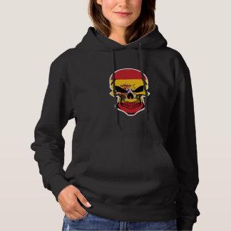 Spanish Flag Skull Hoodie
