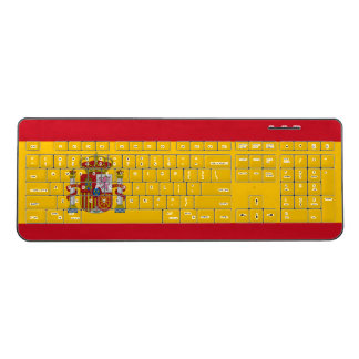 Spanish flag wireless computer keyboard