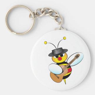 Spanish Flamenco bee Basic Round Button Keychain