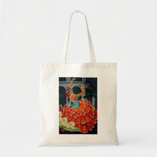 Spanish Flamenco Dancer Tote Bag