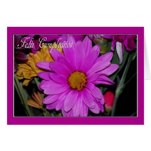 Spanish Floral Birthday Card