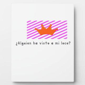 Spanish-Fool Plaque