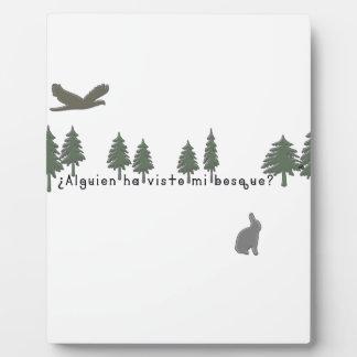 Spanish-Forest Plaque