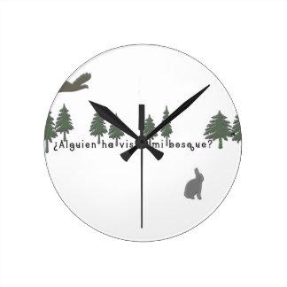 Spanish-Forest Round Clock