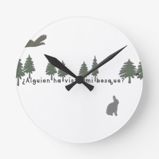 Spanish-Forest Wall Clock