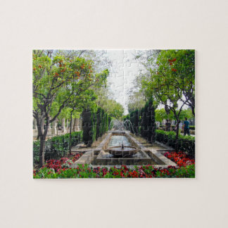 Spanish Garden Fountain Jigsaw Puzzle