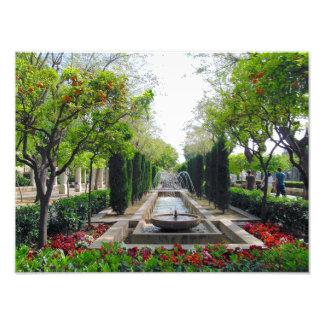 Spanish Garden Fountain Photo Art