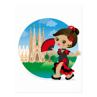 Spanish girl post card