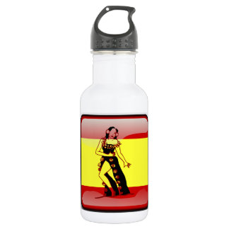 Spanish glossy flag 532 ml water bottle