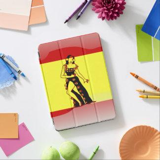 Spanish glossy flag iPad air cover