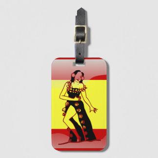 Spanish glossy flag luggage tag