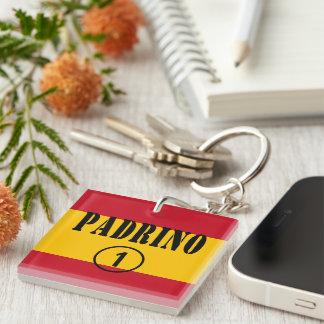 Spanish Godfathers : Padrino Numero Uno Single-Sided Square Acrylic Keychain
