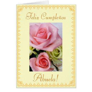 Spanish: Grandmas's birthday Cumpleanos / Abuela Greeting Card