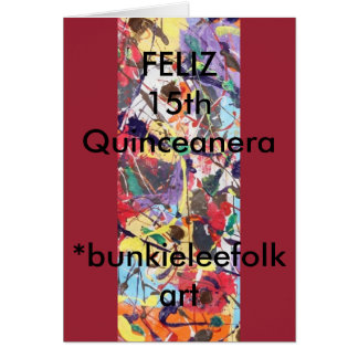 SPANISH, GREETING CARD, Feliz 15th Quinceanera Greeting Card