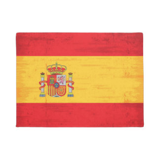 Spanish grunge flag doormat