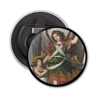 Spanish Guardian Angel and Child Bottle Opener