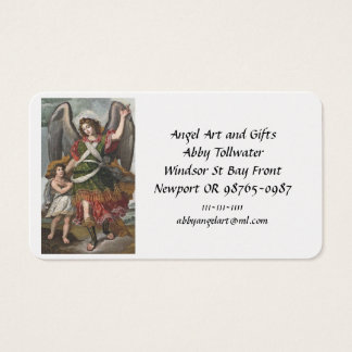 Spanish Guardian Angel and Child Business Card