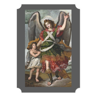 Spanish Guardian Angel and Child Card