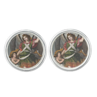 Spanish Guardian Angel and Child Cuff Links