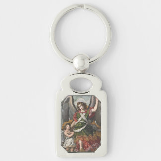 Spanish Guardian Angel and Child Keychain