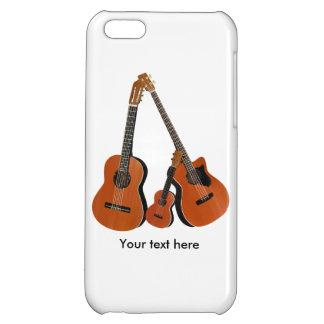Spanish Guitar Acoustic Bass and Ukulele iPhone 5C Cases