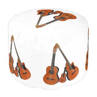 Spanish Guitar Acoustic Bass and Ukulele Pouf