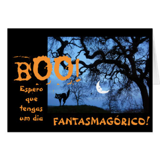 Spanish: Halloween / Dia de las Brujas Card