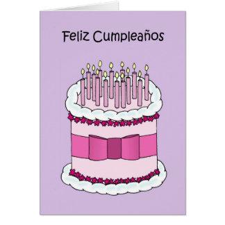 Spanish Happy Birthday Card