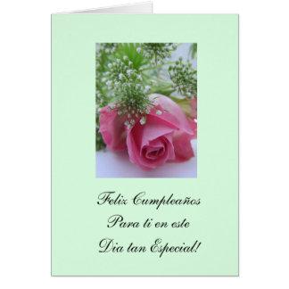 Spanish Happy Birthday Feliz Cumpleanos Card