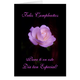 Spanish: Happy Birthday/ Feliz Cumpleanos Lv Greeting Card