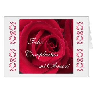Spanish: Happy Birthday sweetheart! Greeting Card