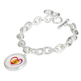 Spanish heart charm bracelet