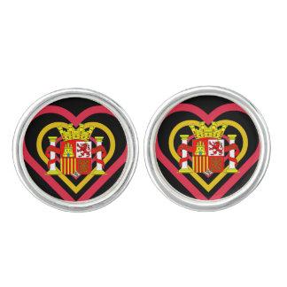 Spanish Heart Spain Flag-inspired Cufflinks