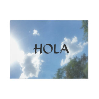 "SPANISH ""HOLA"" SKY WELCOME MAT"
