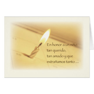 Spanish Honoring Child Loss Birthday, Remembrance Greeting Card