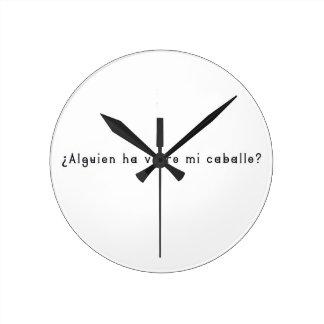 Spanish-Horse Round Clock