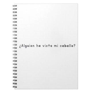 Spanish-Horse Spiral Notebook