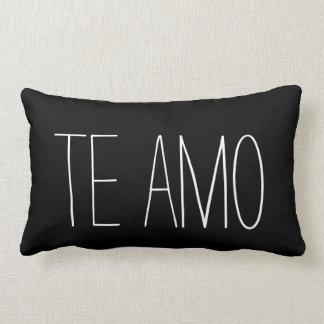 Spanish I Love You Te Amo Black White Quote Lumbar Pillow