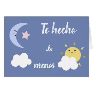 "Spanish ""I Miss You,"" Greeting Card"