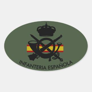 SPANISH INFANTRY OVAL STICKER