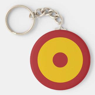 Spanish insignia basic round button keychain