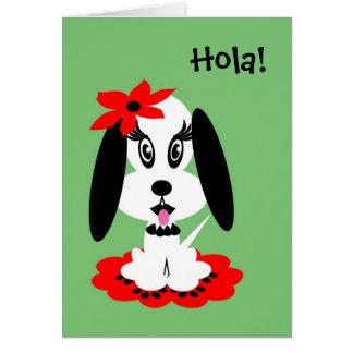 Spanish Kids Birthday Kute Doggy Greeting Card