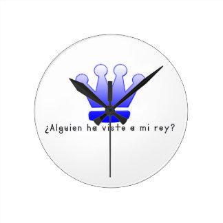 Spanish-King Round Clock