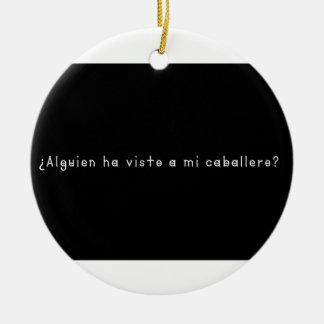 Spanish-Knight Ceramic Ornament